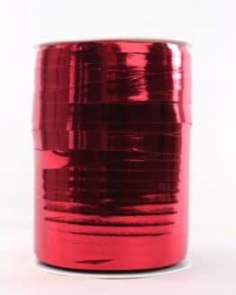 Polyringelband (Kräuselband) rot metallic, 10 mm - weihnachtsband-gold-silber, weihnachtsband, polyband, geschenkband-weihnachten-dauersortiment, geschenkband-weihnachten