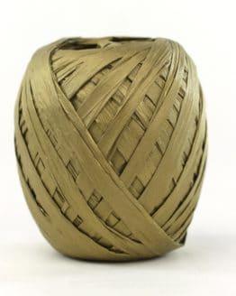 Raffia aus Papier gold matt, Naturlook, 7 mm breit - raffia, polyband