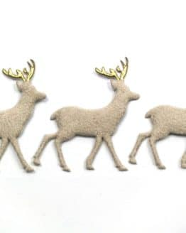 Rehe in Wildlederoptik, creme, 52 mm, 20 Stück - accessoires