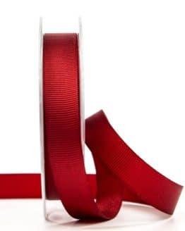Ripsband, bordeaux, 15 mm breit - geschenkband-einfarbig, dekoband