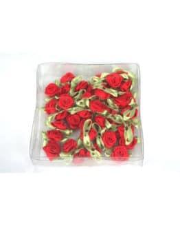 Streurosen aus Satin, rot, ca. 20 mm - sonderangebot