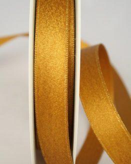 Glitzerndes Satinband kupfer-gold, 15 mm breit - weihnachtsband, satinband