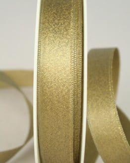 Glitzerndes Satinband altgold, 15 mm breit - weihnachtsband, satinband