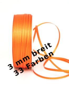 Satinband 3 mm breit - satinband