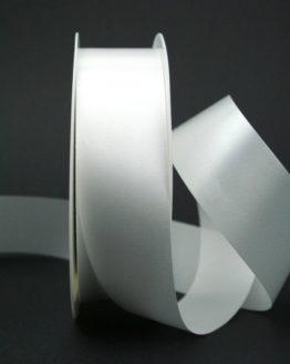 Wetterfestes Schleifenband weiß, 40 mm - polyband, outdoor-baender, hochzeit