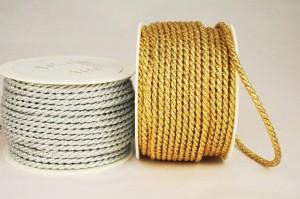 Zierkordel in Gold und Silber, 4 mm Stärke - kordeln