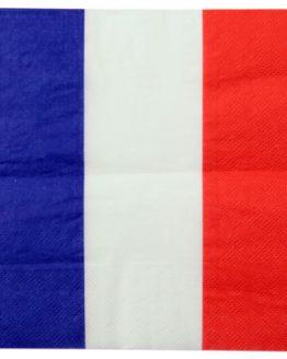 Serviette Frankreich / Holland / Schleswig-Holstein, 10 St. - nationalband