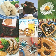 Serviette Oktoberfest - servietten, oktoberfest
