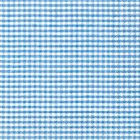 Serviette Vichy blau - servietten, oktoberfest