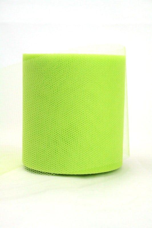 Tüll grasgrün, 100 mm breit - tuellband, outdoor-baender