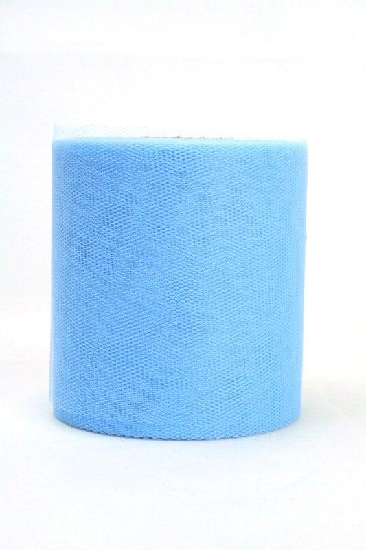 Tüll hellblau, 100 mm breit - tuellband, outdoor-baender