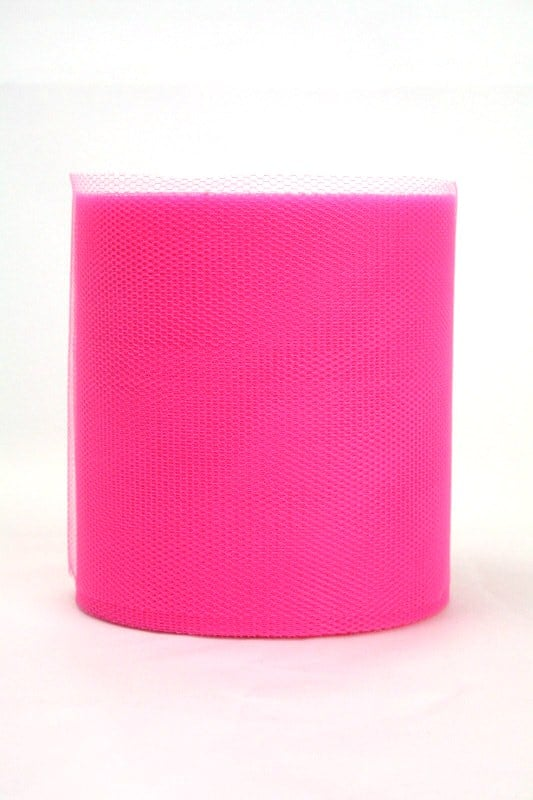 Tüll pink, 100 mm breit - tuellband, outdoor-baender
