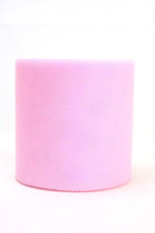 Tüll rosa, 100 mm breit - tuellband, outdoor-baender