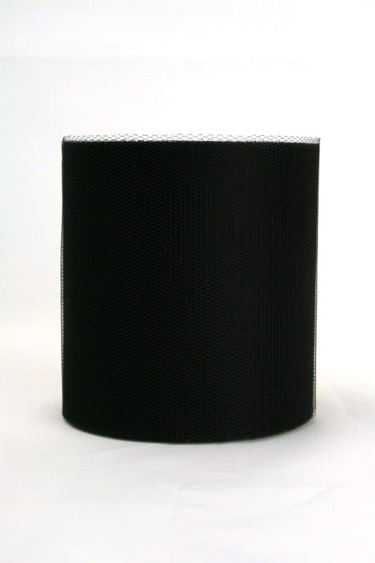 Tüll schwarz, 100 mm breit - tuellband, outdoor-baender