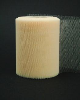 Tüll creme, 100 mm breit - tuellband, outdoor-baender, hochzeit