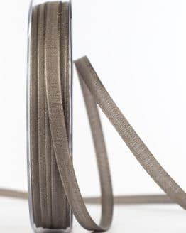 Taftband, grau, 6 mm breit - taftband