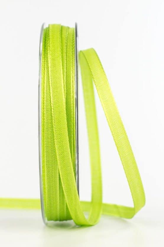 Taftband, hellgrün, 6 mm breit - taftband