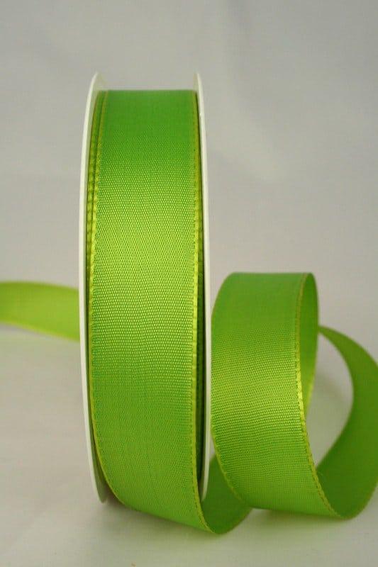 Dekoband Taftband, 25 mm breit, grasgrün - taftband