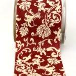 Tischband Klassik dunkelrot-creme, 100 mm