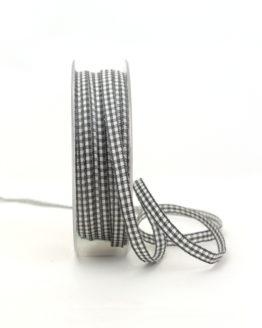 Vichy-Karoband grau, 6 mm breit - karoband, karierte-baender, geschenkband-kariert
