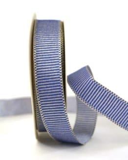 Geschenkband Xmas-Rips, blau-gold, 25 mm breit - weihnachtsband, geschenkband-weihnachten-gemustert, geschenkband-weihnachten