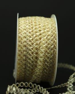 Zierlitze creme, 6 mm breit - hochzeit, dekoband