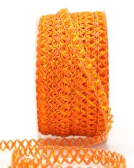 Zierlitze orange, 6 mm breit - dekoband