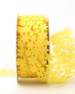 Dekogirlande gelb, aus Vlies ausgestanzt - dekoband
